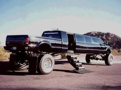What I plan to ride in after my wedding ceremony lol yep yep!! Silly boys trucks are for girls