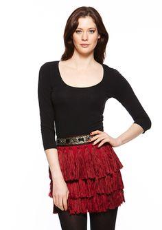 Endless Rose - Fringe Embellished Skirt