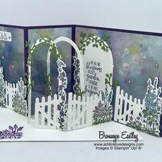 Grace's Garden Double Z-Fold Card Tutorial - #electroniccards - Grace's Garden Double Z-Fold Card Tutorial...