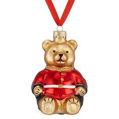 Buy John Lewis Tourism Glass Guardsman Bear Bauble Online at johnlewis.com