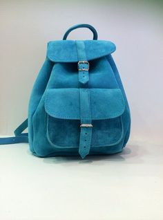 Leather bag backpack genuine leather handmade by SANDALIANAS, $128.00