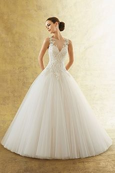 Ball Gown Bateau Court Train Wedding Dress