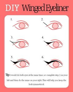 diy winged eyeliner