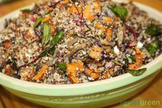 #quinoa recipes #quinoa meals #quinoa dishes #quinoa-mushrooms_sweetpotatoes