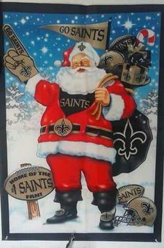 New Orleans Saints Santa Claus