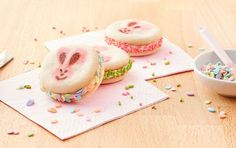 Hop into the Easter spirit with these colorful sugar cookie sandwiches. Ingredients: 1 package (11 oz.) Pillsbury™ Ready to Bake!™ Shape™ Easter Sugar Cookies 3/4 cup vanilla creamy ready-to-spread…
