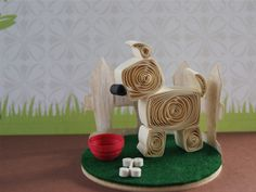 Adorable paper quilling Westie pup