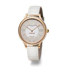Fabergé Lady Fabergé 36mm 18ct Rose Gold Timepiece - White Dial #Fabergé #watches