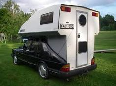 Saab 900 Toppola Car Camper, Campers, Saab 900, Motorhome, Recreational Vehicles, Trucks, Interior, Wheels, Camper Trailers