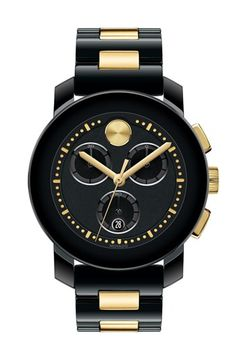 3001ea23f6d Movado  Bold  Two-Tone Ceramic Bracelet Watch Pulsera Anillo