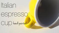 Coffee cup for espresso Espresso Cups, Coffee Cups, Italian Espresso, Cupped Hands, Tableware, Mugs, Yellow, Italy, Coffee Mugs