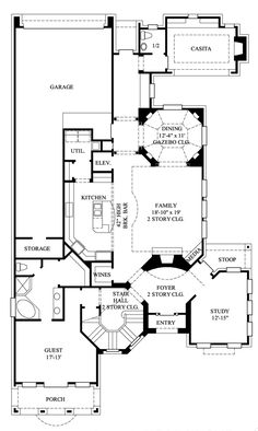 First Floor Plan of Traditional   House Plan 61555