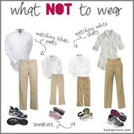 I love this and agree. This is What {NOT} to wear in family photos!