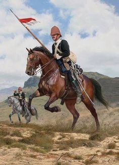 Zulu War 1879 - Lancers on patrol Military Art, Military History, Military Uniforms, British Soldier, British Army, American Revolutionary War, American Civil War, Zulu, British Uniforms