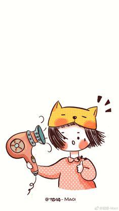 Friends Illustration, Cute Illustration, Anime Chibi, Anime Art, Pretty Drawings, Kawaii Wallpaper, Cute Gif, Girl Cartoon, Cute Stickers