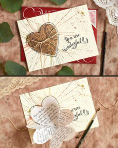 Folded Heart Handmade Card Tutorial | The Postman's Knock :: The best kind of handmade card is one that surprises you! In today's tutorial, you'll learn how to make a simple card with an interactive aspect.