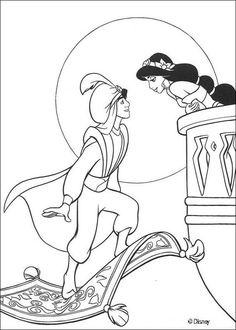 Want To Introduce Your Little Princess The Fascinating World Of Aladdin Jasmine Then Try Our Free Printable Coloring Pages