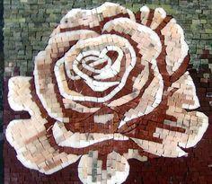 Mosaic Tile Art - The Rosa Flora