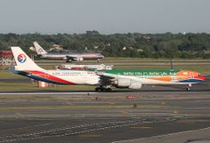 "CHINA EASTERN, AIRBUS A340 (A340-600), B-6055, ""Better City"" ""Better Life"" colors, at JFK, New York, USA. May, 2010"
