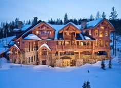 Enormous Log Home