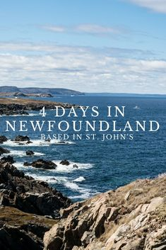 If you only have 4 days in Newfoundland and you're planning on staying in the capital St. John's the entire time, it's totally possible to do day trips from the city to see some incredible sights including Bonavista, Bay Bulls, Petty Harbour, and so much East Coast Travel, East Coast Road Trip, Newfoundland Canada, Newfoundland And Labrador, Quebec, Ontario, Gros Morne, Canadian Travel, Canadian Rockies