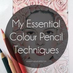 Today I'll be sharing a quick guide to MY essential colour pencil techniques which I hope will answer some of your questions and help beginners, or anyone really, expand their repertoire of drawing skills. Obviously this isn't an exhaustive list of every technique on tha-planet, because tha
