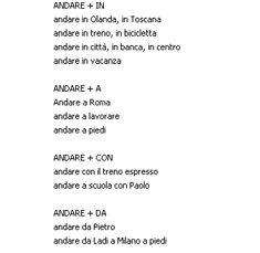 ANDARE + A, IN, DA, CON | Italijanski online - https://www.facebook.com/ItalijanskiOnline #Italian #grammar