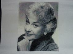 Cross stitch of Bea Arthur. Click through to the stitcher's Flickr page to see the work in progress. AMAZING