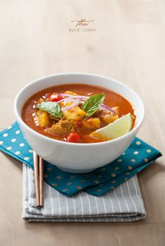 Includes a recipe for red curry paste - Need to try it! Red Thai Duck Curry