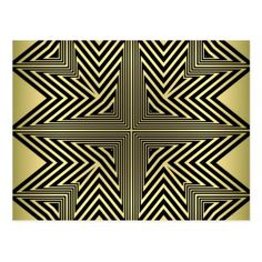Art Deco Black and Gold Diamond Pattern Postcard - postcard post card postcards unique diy cyo customize personalize