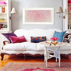 Love this couch. It is classic and sturdy, but with large puffy, and comfortable looking cushion tha look like you can take them of easy to clean them.