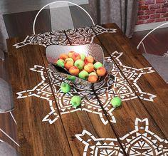 Mándala redondo simétrico Stencil - plantilla geométrica moderna - plantilla decorativos reutilizables