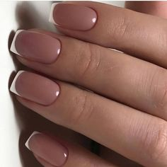 Semi-permanent varnish, false nails, patches: which manicure to choose? - My Nails Short French Nails, Nail French, Nails Short, French Tips, French Manicure Nails, Manicure Colors, White Shellac Nails, French Pedicure, Manicure Ideas