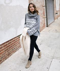 """Tess Christine on Instagram: """"Comfy sweaters, skinny jeans and booties-my…"""
