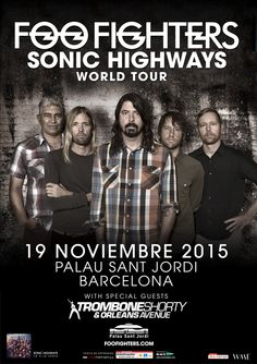 FOO FIGHTERS, 19 de noviembre 2015 Barcelona