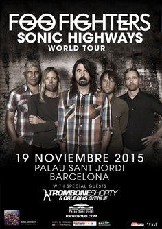 FOO FIGHTERS, 19 de noviembre 2015 Barcelona