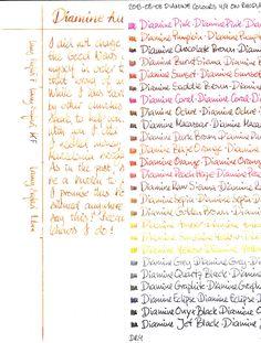 Diamine Ink Writing Samples