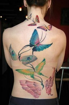 Beautiful Feminine Butterfly Tattoos
