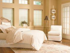 Comfortex Sheer Horizontal Shades..How to create a soft sanctuary