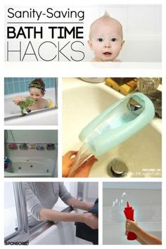Sanity Saving Bath Time Hacks - these could make life easier, right? I am always looking for an idea to make bath time more fun and streamlined! #ad