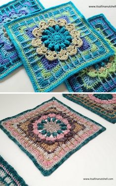 Crochet this! Fun floral square designed by Melissa Green