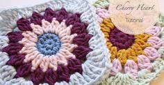 A tutorial to make a crocheted Rosie Posie Grannie Square.