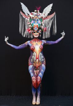 A model participates in the 2012 International Body Painting Festival at Duryu Park on Sept. 1, 2012 in Daegu, South Korea. The festival is the largest event in the field of body painting and spreads the art form to thousands of interested visitors each year.