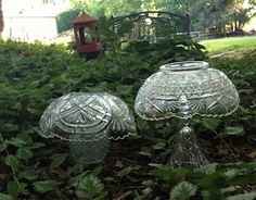 I had to make some of these glass #mushrooms for my #garden after seeing them on #Pinterest