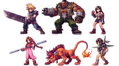"""Daniel """"Abysswolf"""" Oliver's pixel art reminds me of the Metal Slug games, especially Barret's look in the Final Fantasy VII piece above. But he's mostly into JRPGs and recently, he remade the cast of a couple of classic games as detailed, colorful 2D sprites."""