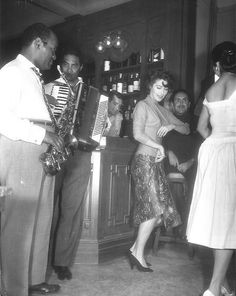 """Ava Gardner dancing on the set of """"The Sun Also Rises"""""""