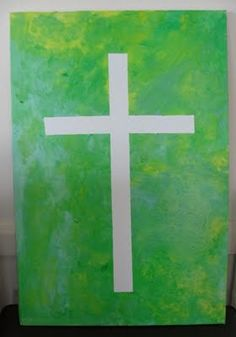 Tape Resist Art - Canvases for Palm Sunday, Good Friday & Easter Day