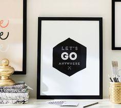 Stephanie Sterjovski Framed Print: Let's Go Anywhere