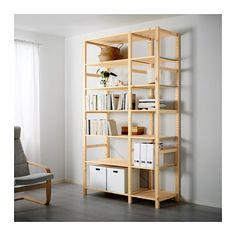 IKEA - IVAR, 2 sezioni/ripiani, Il legno massiccio grezzo è un materiale naturale durevole che diventa ancora più resistente e facile da pulire trattandone la superficie con olio o cera.Puoi spostare i ripiani per adattare lo spazio alle tue esigenze.Puoi personalizzare il mobile trattandolo con il mordente o verniciandolo del colore che preferisci.