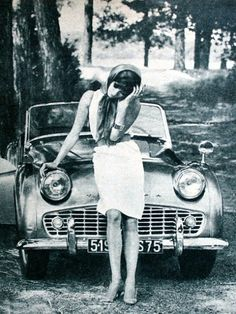 Model with a car, Jours de France, July 1961
